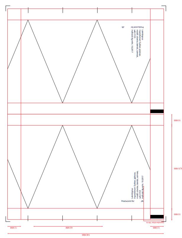 Designskabelon trekantet slik