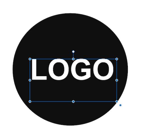 logo fil i illustrator hvor tekst ikke er vektoriseret